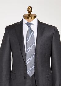 Silk and Linen Stripe Tie, thumbnail 2