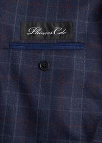 Navy Plaid Wool Suit, thumbnail 4