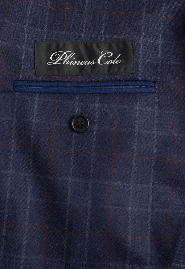 Navy Plaid Wool Suit, image 4