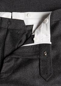 Flannel Wool Blend Grey Trouser, thumbnail 2