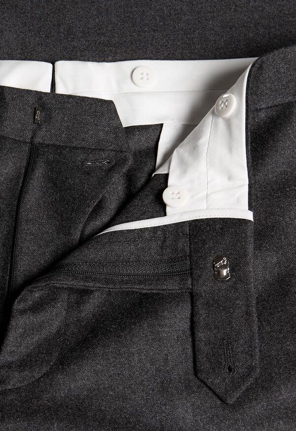 Flannel Wool Blend Grey Trouser, image 2