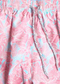 Coral Floral Print Swim Trunk, thumbnail 2
