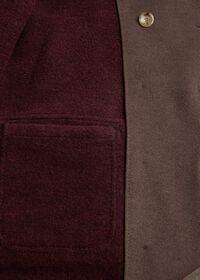 Brown & Burgundy Coat, thumbnail 4