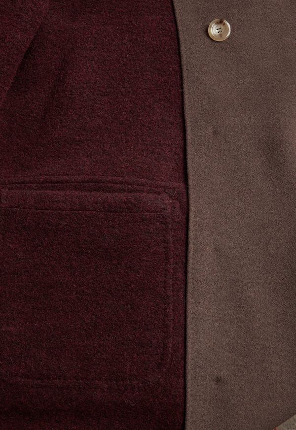 Brown & Burgundy Coat, image 4