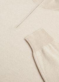 Cashmere 1/4 Zip Mock Neck Sweater, thumbnail 2