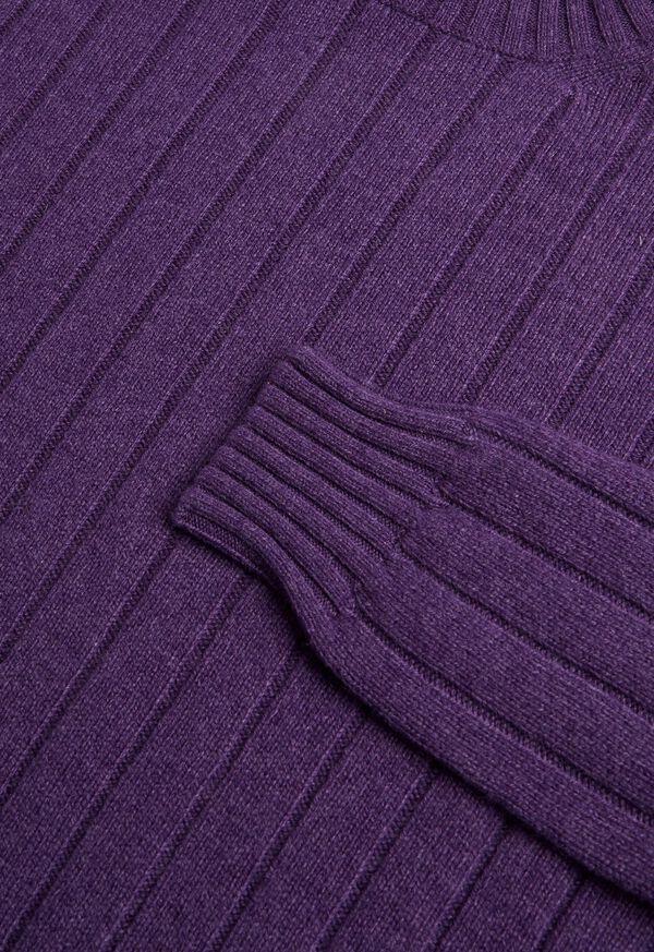 Cashmere Rib Turtleneck Sweater, image 2