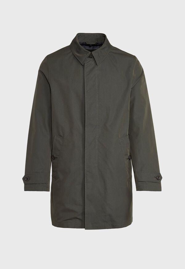 Solid Olive Raincoat, image 1