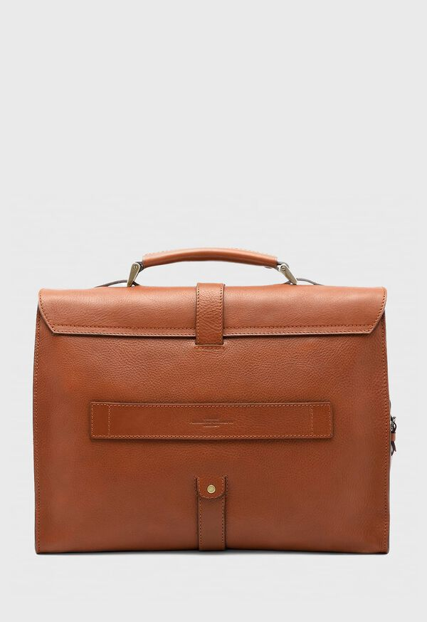 Bridle Leather Briefcase with Shoulder Strap, image 4