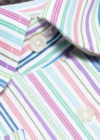 Cotton Rainbow Stripe Sport Shirt, thumbnail 2