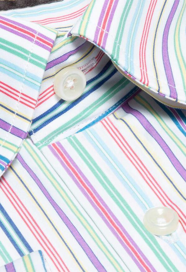 Cotton Rainbow Stripe Sport Shirt, image 2