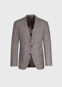 Phillip Fit Mink Plaid Wool Suit, thumbnail 4