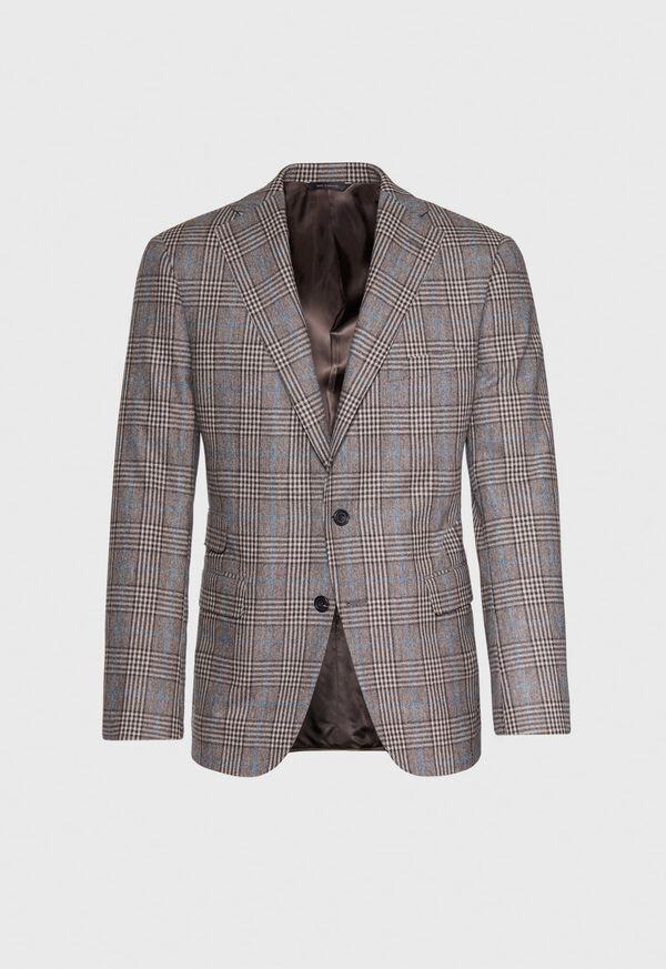 Phillip Fit Mink Plaid Wool Suit, image 4