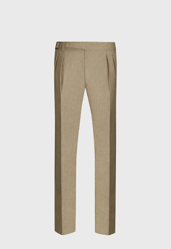 Solid Linen Gurkha Pant