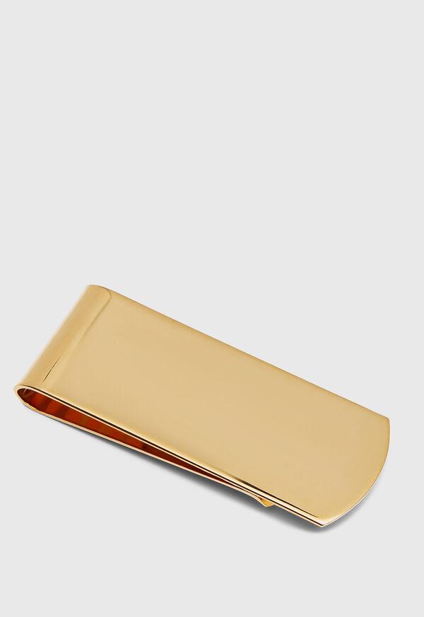 14K Gold Polished Money Clip, image 1