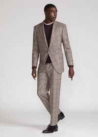 Wool Plaid Classic Shoulder Suit, thumbnail 8