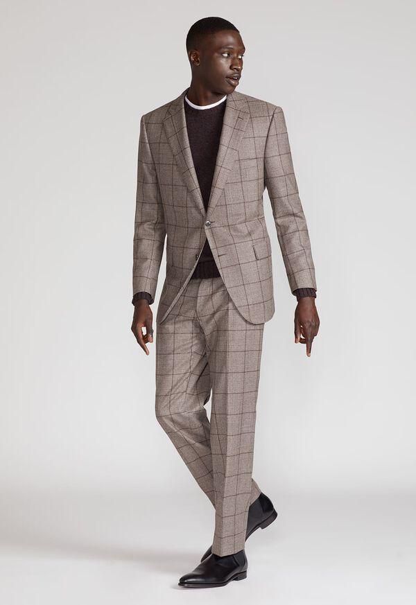 Wool Plaid Classic Shoulder Suit, image 8