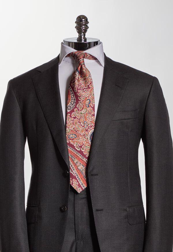 Silk Floral Paisley Tie, image 2