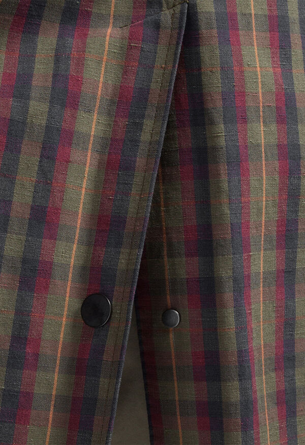 Plaid Trench Coat, image 5