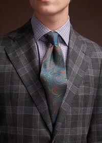 Grey Plaid Wool Suit, thumbnail 9