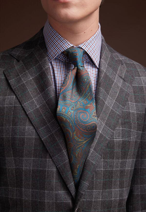 Grey Plaid Wool Suit, image 9