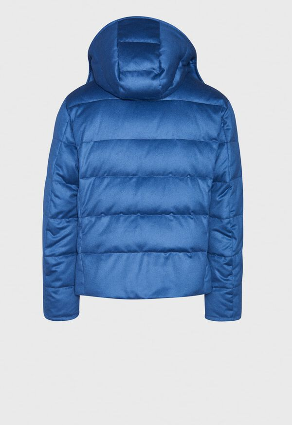 Cashmere Quilted Down Puffer Jacket, image 3