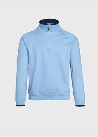 Pima Cotton 1/2 Zip Sweater, thumbnail 1