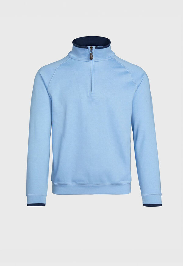 Pima Cotton 1/2 Zip Sweater, image 1
