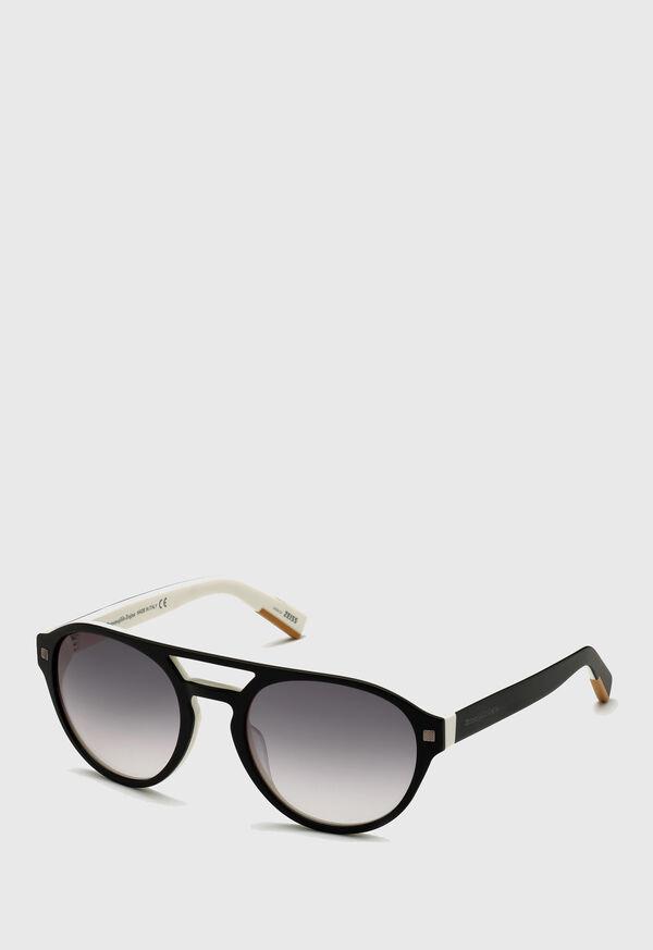 Ermenegildo Zegna Round Acetate Sunglasses, image 1