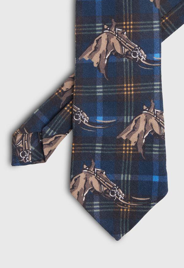 Equestrian Print Tie, image 1