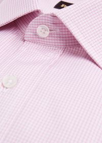 Microcheck Cotton Dress Shirt, thumbnail 2