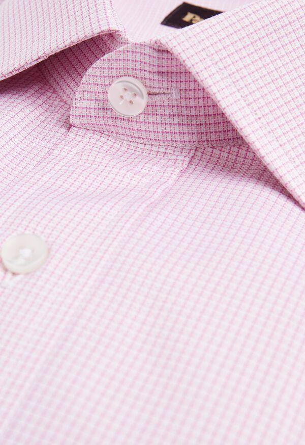 Microcheck Cotton Dress Shirt, image 2