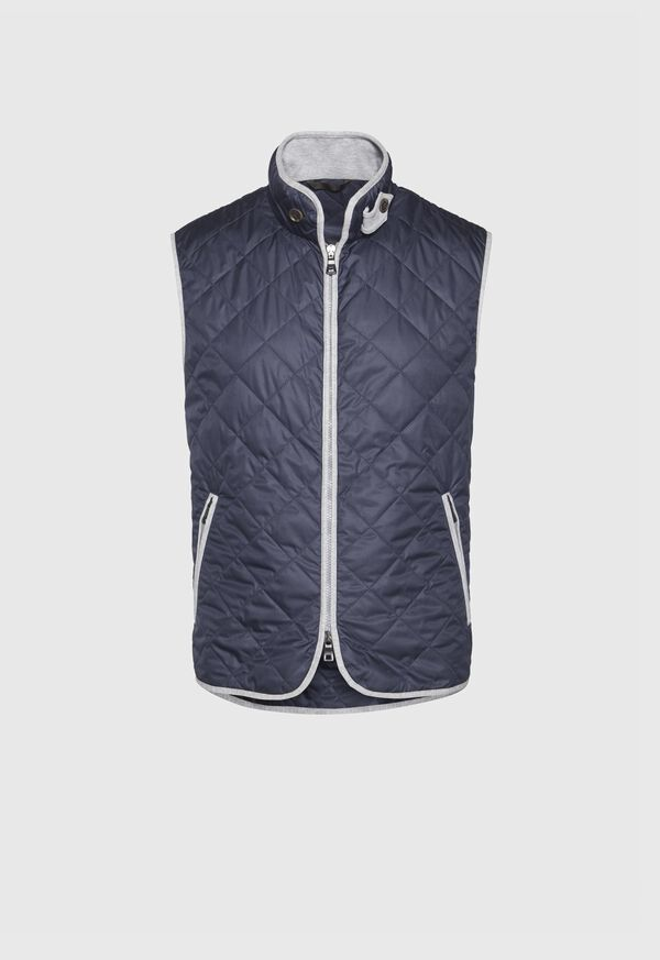 Nylon Vest With Piping, image 1