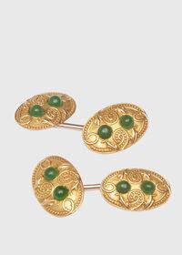 14K Gold Vintage Cufflinks Circa 1920, thumbnail 1