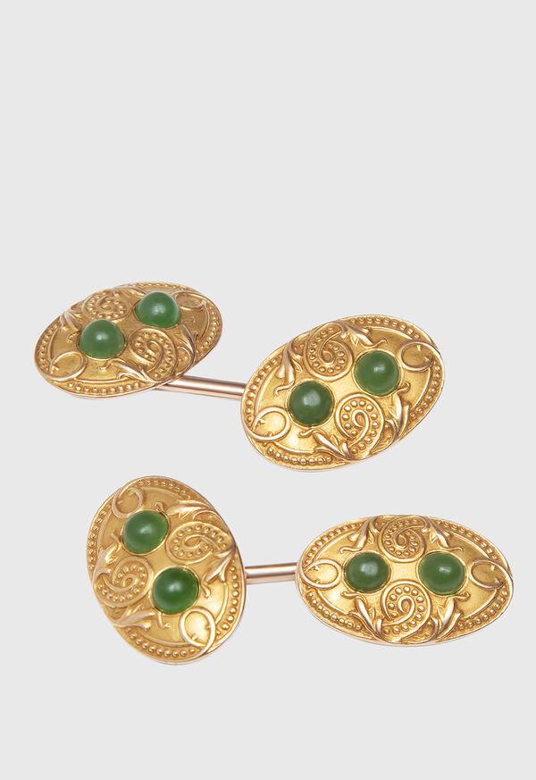 14K Gold Vintage Cufflinks Circa 1920, image 1