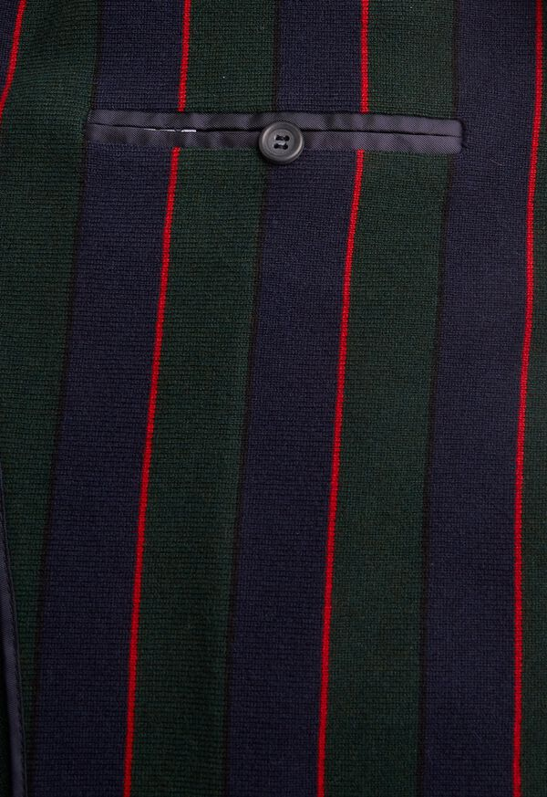 Rice Stitch Merino Wool Stripe Blazer, image 3
