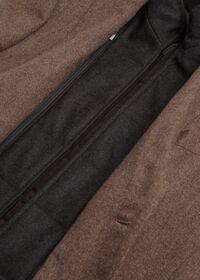 Cashmere Tan Melange Vest Jacket, thumbnail 5