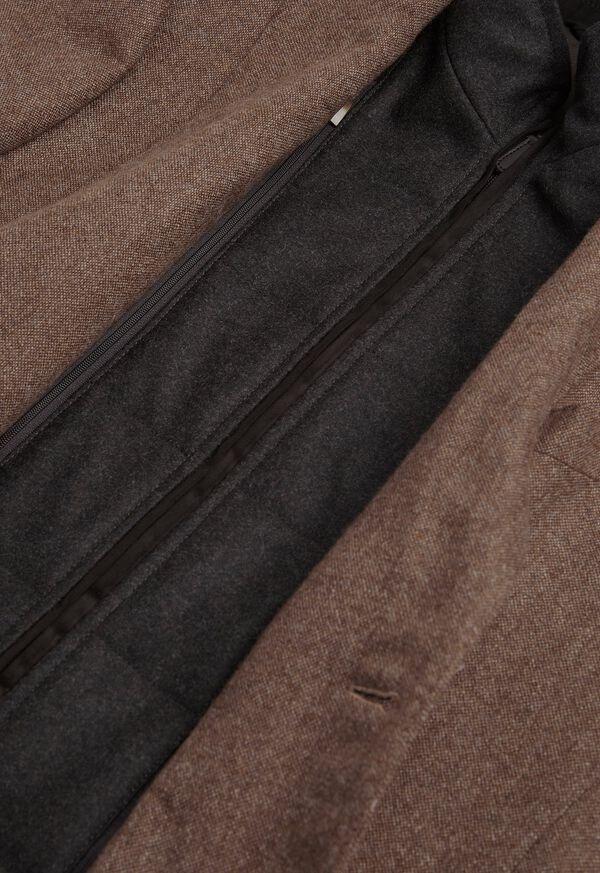 Cashmere Tan Melange Vest Jacket, image 5