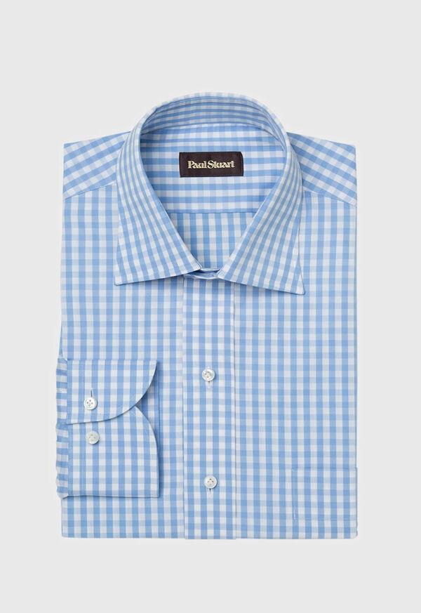 Gingham Check Cotton Dress Shirt, image 1