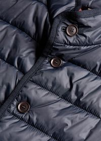 Nylon Button Front Quilted Vest, thumbnail 7