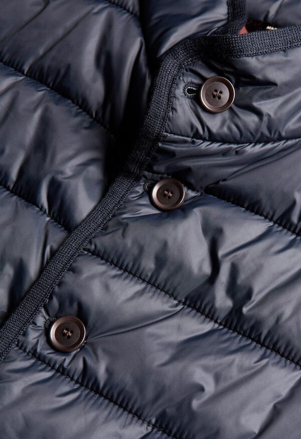 Nylon Button Front Quilted Vest, image 7