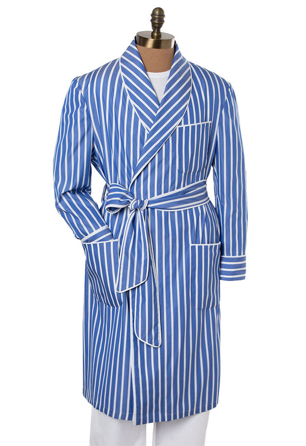 Awning Stripe Cotton Robe, image 3