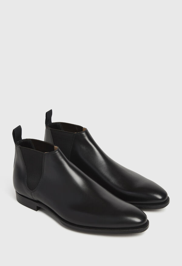 Black leather Half Chelsea Boot, image 4