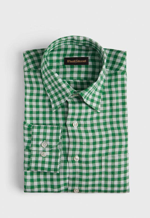 Linen Oxford Gingham Sport Shirt, image 1