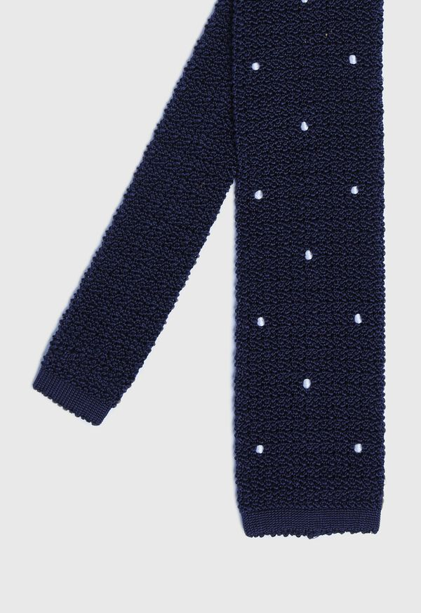 Embroidered Knit Tie, image 1