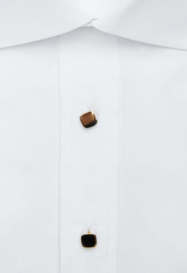 14K Gold Polished Cushion Shape Cufflinks and Studs, image 3