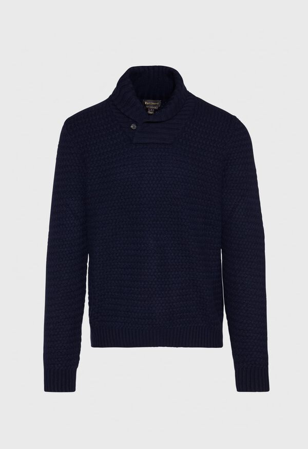 Military Shawl Collar Pullover Sweater, image 1