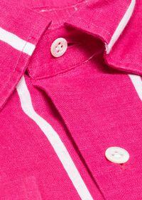 Linen Striped Sport Shirt, thumbnail 2