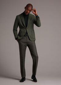 Super 120s Sage Flannel Trouser, thumbnail 3