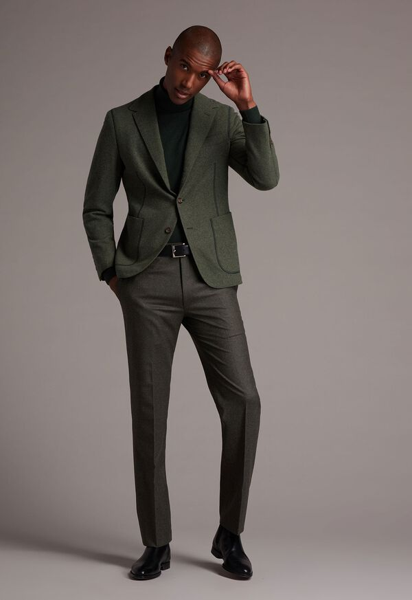 Super 120s Sage Flannel Trouser, image 3