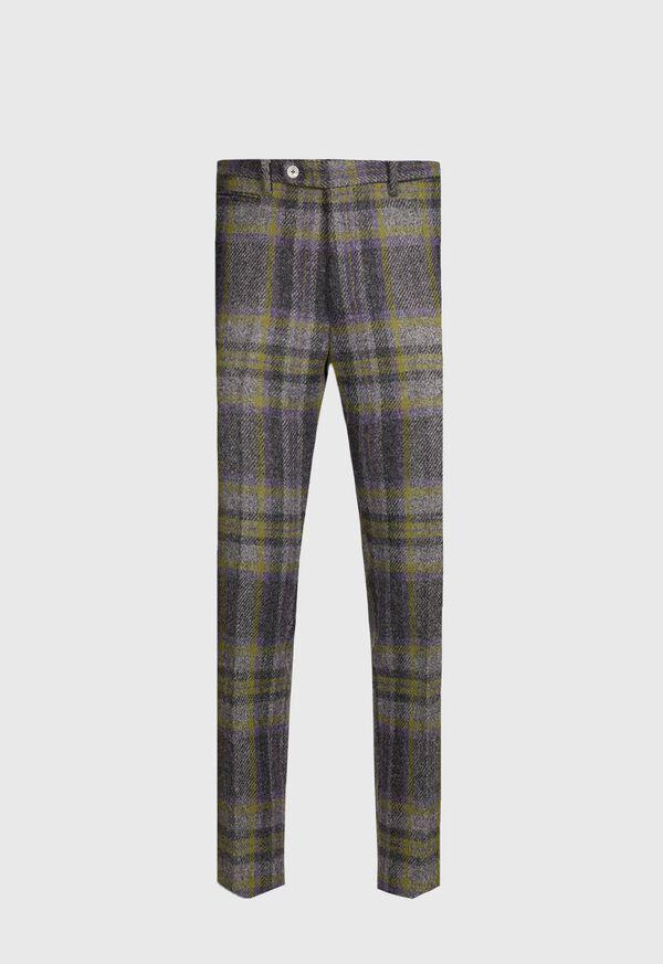 Shetland Wool Plaid Trouser